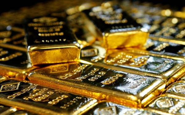 A big drop in the price of gold